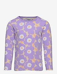 Marimekko - OULI MINI UNIKOT - langærmede t-shirts - light yellowish, lavender - 0