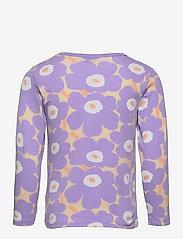 Marimekko - OULI MINI UNIKOT - langærmede t-shirts - light yellowish, lavender - 1