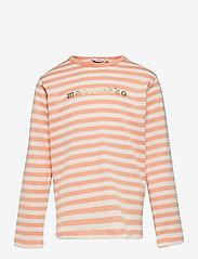 Marimekko - VEDE TASARAITA 2 - langærmede t-shirts - off white, light apricot, gold - 0