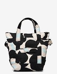 Marimekko - MILLI MATKURI PIENI UNIKKO 2 BAG - skuldertasker - off white,black,light blue - 1