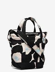 Marimekko - MILLI MATKURI PIENI UNIKKO 2 BAG - skuldertasker - off white,black,light blue - 2