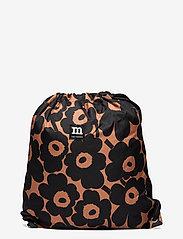 Marimekko - SMART SACK PIKKUINEN UNIKKO BAG - rygsække - brown, black - 0