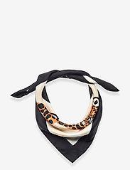 Marimekko - JOSINA KAKSOSET SCARF - tynde tørklæder - off white, brown, black - 2
