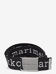 Marimekko - KAUKANA LOGO BELT - bælter - black, white - 0