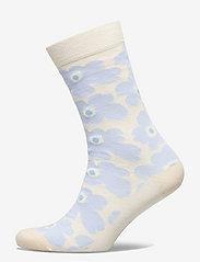 Marimekko - HIETA UNIKKO SOCKS - almindelige strømper - white, blue - 0