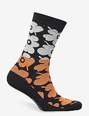 Marimekko - SALLA UNIKKO MIX SOCKS - almindelige strømper - black, orange, off white - 1