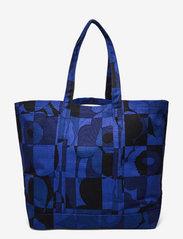 Marimekko - PERUSKASSI RUUTU-UNIKKO BAG - tote bags - blue,blue - 1