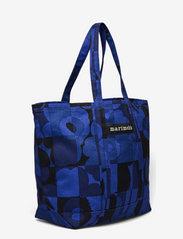 Marimekko - PERUSKASSI RUUTU-UNIKKO BAG - tote bags - blue,blue - 2