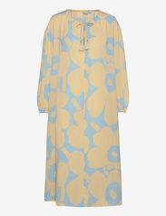 Marimekko - KORKEAAN PIENI UNIKKO 2 DRESS - hverdagskjoler - turquoise, yellow - 0