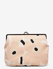 Marimekko - PUOLIKAS KUKKARO MINI UNIKKO PURSE - clutches - off white,peach,black - 0