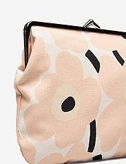 Marimekko - PUOLIKAS KUKKARO MINI UNIKKO PURSE - clutches - off white,peach,black - 3