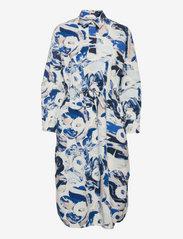 Marimekko - SINILILJA MAISEMA UNIKKO DRESS - hverdagskjoler - off-white, sand, blue - 0