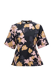 MATHELDE Shirt - BLACK, MUSTARD, PINK