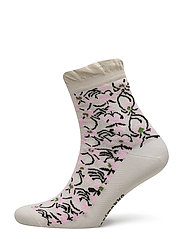 SALLA NURMU Ankle socks - LIGHT BEIGE, LIGHT PINK, BLACK
