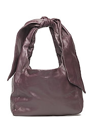 KASSI NAPPA Handbag - WINE RED
