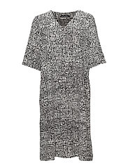 BASALTTI Dress - OFF-WHITE, BLACK