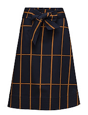 LIMONIITTI TIILISKIVI Skirt - DARK BLUE, BROWN