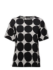 LEA PIENET KIVET T-shirt - WHITE, BLACK