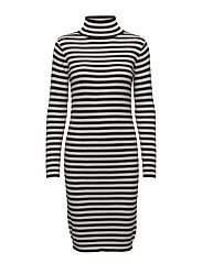 ANGERVO TASARAITA Knitted dress - OFF WHITE, BLACK