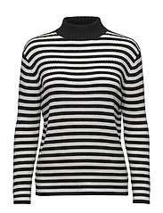 SYREENI TASARAITA Knitted pullover - OFF WHITE, BLACK