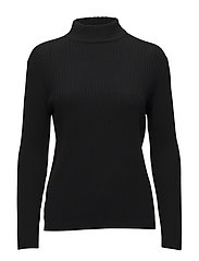 SYREENI SOLID Knitted pullover - BLACK