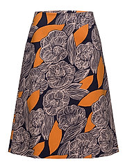 TUTUJA AMUR Skirt - DARK BLUE, PEACH, ORANGE
