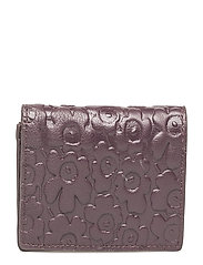 MONA Wallet, leather - WINE RED