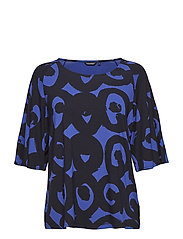MIINNA KISSAPÖLLÖ Shirt - BLUE, BLACK