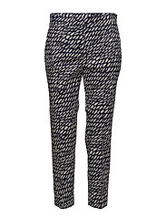 MARTHA SUKKULA Trousers - OFF-WHITE, D.BLUE