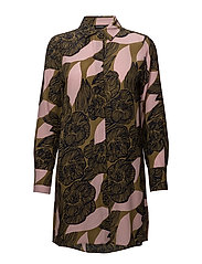 TYYRI AMUR Tunic - BROWN, PINK, DARK BLUE