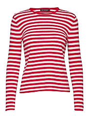 MAHONKI TASARAITA Knitted pullover - RED, WHITE