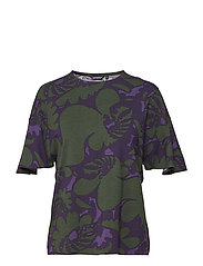 ELRE AKILEIJA T-shirt - PURPLE, BLACKBERRY, GREEN