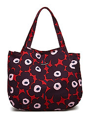 HUVITAR MINI UNIKKO Handbag - RED,PLUM,LIGHT PINK