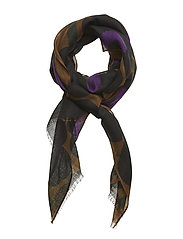 FIORE PIENI UNIKKO Scarf - BROWN,BLACK,PURPLE
