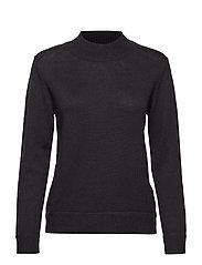 PERIHELI Knitted pullover - BLACK