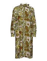 TUNNE AURINGON ALLA Dress - L.TURQUOSE, GREEN, BROWN
