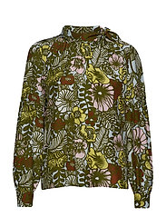 KAUNIS AURINGON ALLA Shirt - L.TURQUOSE, GREEN, BROWN