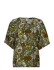 KOHTALO AURINGON ALLA Shirt - L.TURQUOSE, GREEN, BROWN