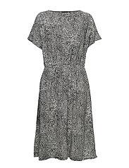 SIIMES LUKKI Dress - WHITE, BLACK