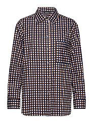 RIIA MILLIRUUTU Shirt - WHITE, BLUE, BROWN