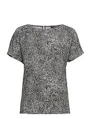 NELIÖ LUKKI Shirt - WHITE, BLACK