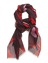 FIORE PIENI UNIKKO Scarf, woven - RED,PLUM,LIGHT PINK