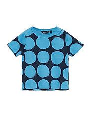 KOSMA MINI KIVET 1 T-shirt - BRIGHT BLUE, DARK BLUE