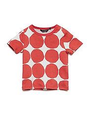 KOSMA MINI KIVET 1 T-shirt - LIGHT GREY, ORANGE