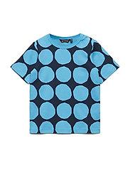 KOSMA MINI KIVET 2 T-shirt - BRIGHT BLUE, DARK BLUE