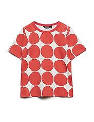 KOSMA MINI KIVET 2 T-shirt - LIGHT GREY, ORANGE