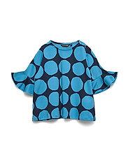 POMPPIA MINI KIVET 1 Tunic - BRIGHT BLUE, DARK BLUE
