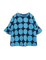 POMPPIA MINI KIVET 2 Tunic - BRIGHT BLUE, DARK BLUE
