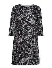 UNELMA AURINGON ALLA Dress - WHITE, BLACK