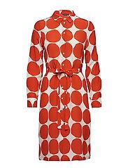 BETTINA PIENET KIVET Dress - ORANGE, WHITE